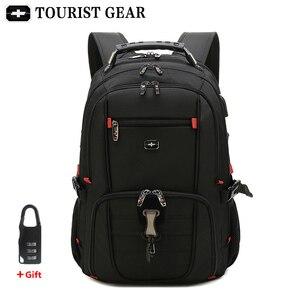 Image 2 - Mochilas suíças dos homens bolsa de viagem negócios anti roubo mochila masculino usb de carregamento 15.6 17 polegada portátil mochila à prova dwaterproof água
