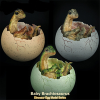 Baby Brachiosaurus Model Dinosaur Egg Figure Resin Toy Collector Decor Educational Toys Decoration Kid Birthday Gift