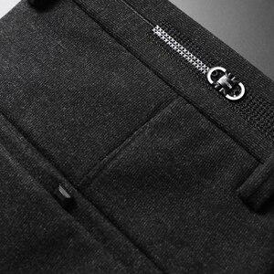Image 5 - Pantalon en tricot épais pour hommes, vêtement de marque épais, avancé, extensible et à la mode, nouvelle collection automne et hiver 2019