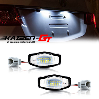2PCS High Power Xenon White 18-SMD LED Car License Plate Lights For Honda Civic Accord Pilot, Acura MDX RL TL TSX RDX ILX etc image