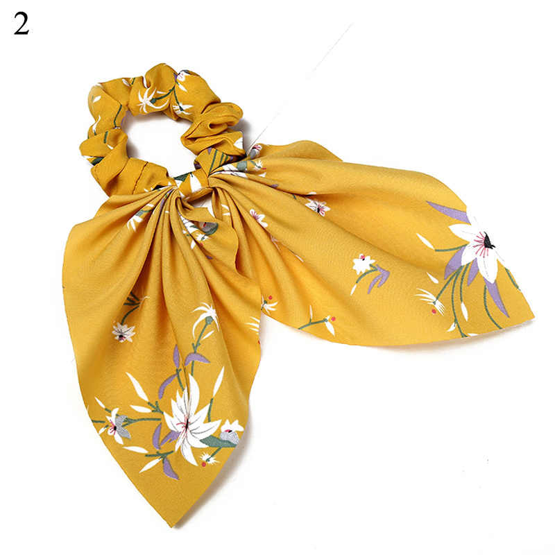 Vintage Kadınlar Çizgili Türban Yay Flamalar Saç Scrunchies Mini Çiçek Şerit Saç Bağları At Kuyruğu Tutucu Tatlı saç aksesuarları