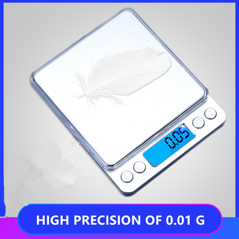 1KG/0.1G Electronic Scale Of Food Kitchen Scale Domestic Portable Household Baking Measuring Supplies Stainless Steel High Preci