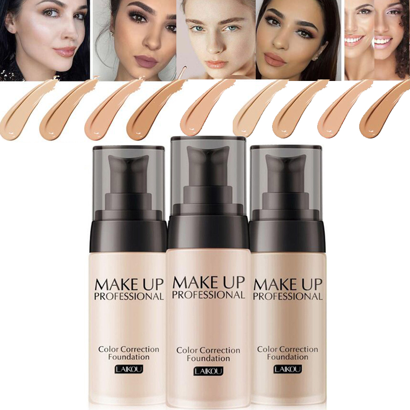 40ML Long Lasting Face Foundation Base Makeup Waterproof Matte Mineral Foundation Cream Full Whitening Color Correction TSLM2 image