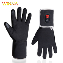 Winter Velvet Warm Heated Gloves Unisex Skiing Snowboard Motorcycle Riding Touch Screen Snow Windstopper Glove