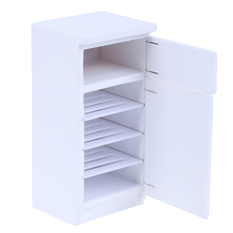 <font><b>1</b></font>:<font><b>12</b></font> Miniature 2 Door Fridge kitchen Refrigerator Dollhouse Furniture Accessories image