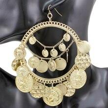 Gypsy Earrings Jewelry Coins Oorbellen Vintage Tribal QUEEN Banjara Women YAS Word-Hoop