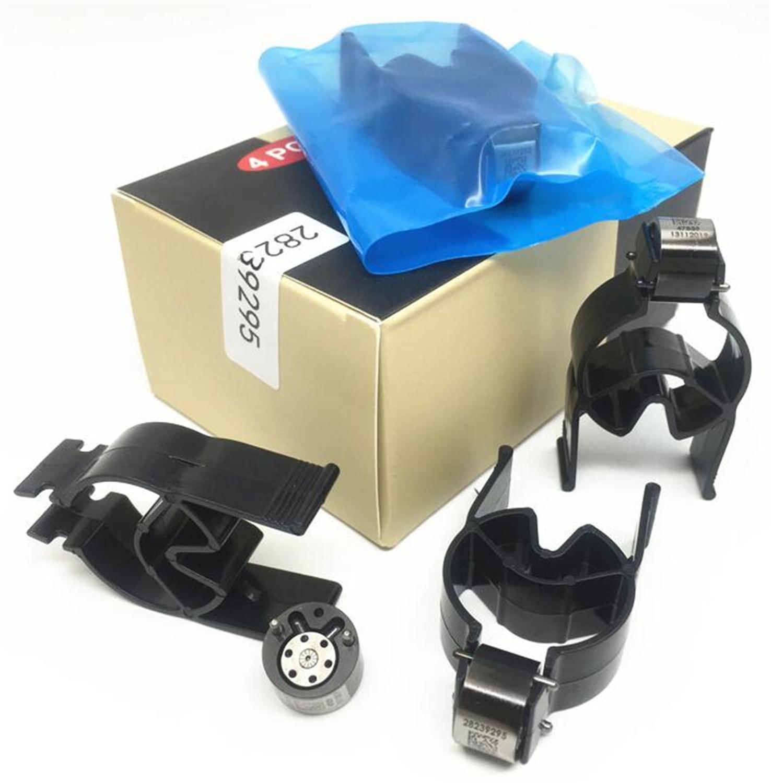 4pcs Black Fuel Injector Control Valves 9308-622B 28239295 28278897 9308Z622B Euro 4 For Delphi Diesel Common Rail Injectors
