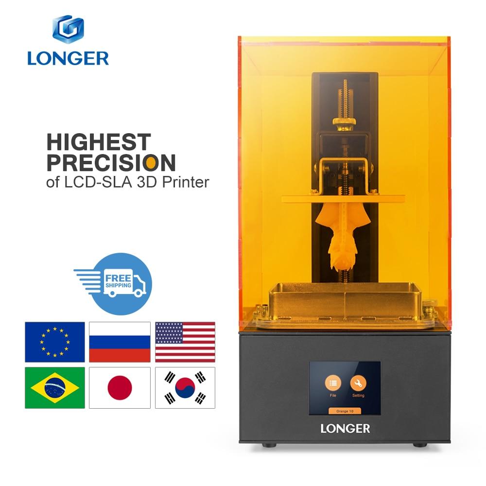 Impressora De Alta Precisão Impressora de SLA 3D LONGER Orange 30 3D com 2K Tela LCD Paralela Impressora de Resina Iluminação LED UV 405nm