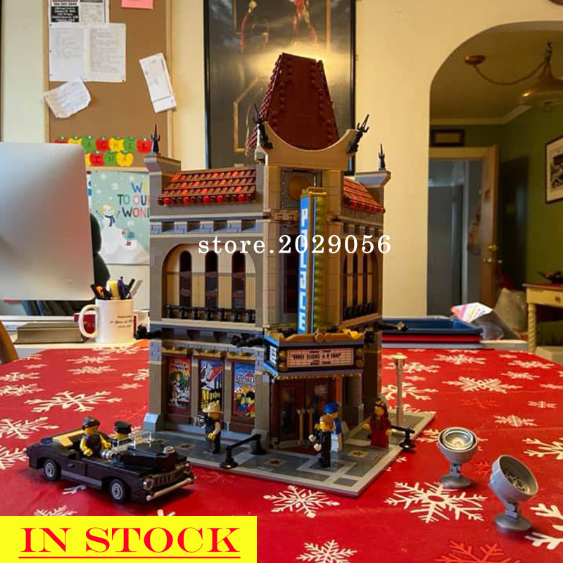 In Stock 15006 2354pcs City Street View Creator Series Palace Cinema Building Blocks Bricks Children toys Compatible with 10232 image
