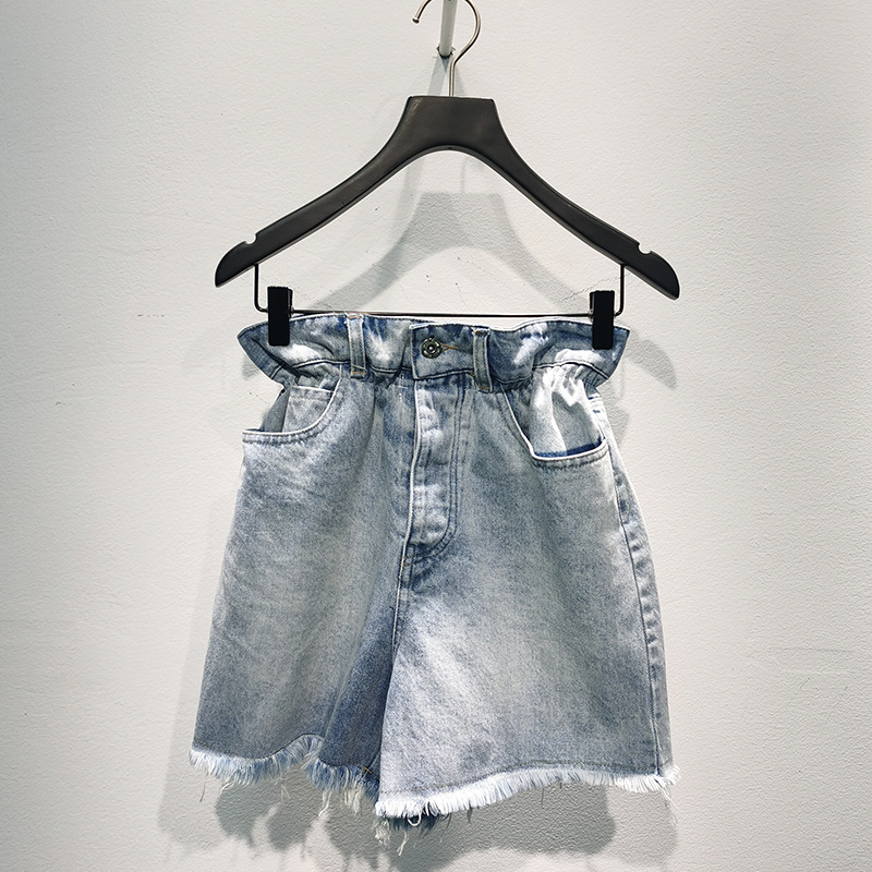 High Quality Spring and Summer New All-match Old-fashioned Wash Water All-match Denim Shorts Women's Trend