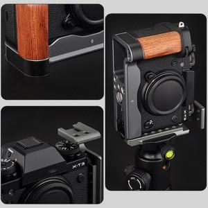 Image 5 - สำหรับFujifilm Fuji X T3 X T2 XT3กล้องแนวตั้งShoot QR L Plate Bracketมือไม้gripสีดำ