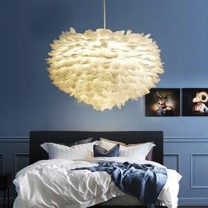 Image 2 - قلادة على هيئة ريشة أضواء Hanglamp قلادة مصباح الشمال تصميم بريق Loft Loft ديكور غرفة الطعام المطبخ المنزل تركيبات إضاءة LED