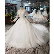 BGW HT562 European Style Wedding Dresses With Long Train Lace Up Back Luxury Wedding Gown 2020 New Fashion Design