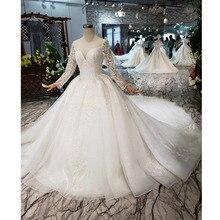 Bgw HT562 Phong Cách Châu Âu Áo Váy Dài Tàu Phối Ren Lưng Cao Cấp Áo Cưới Năm 2020 Thiết Kế Thời Trang Mới
