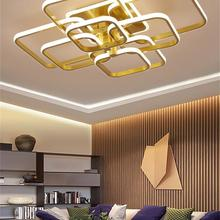Modern Led Chandelier Acrylic-Lights Ceiling-Fixtures Remote-Control Bedroom Living-Room