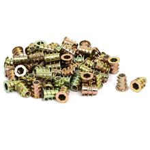 M4x10mm thread interface screw insert nuts 60 pcs for wooden furniture