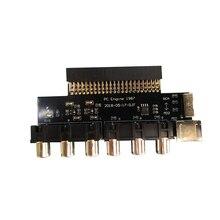 Sinyal çıkışı ses çıkışı dönüştürücü RGBS kartı NEC PCE adet motor konsolu Grafx TV AC RGBS dönüştürücü