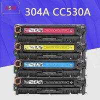 CC533A CC532A CC531A CC530A 304A Cartucho de Toner Compatível para HP Color LaserJet CM2320nf CP2025 CM2320fxi CM2320n CM2320nf