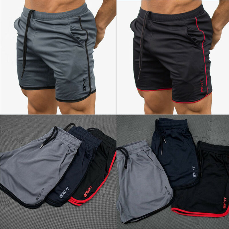 Men's Casual Short Pants Fitness Gym Jogging Running Sports Wear Shorts