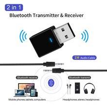 Bluetooth 5,0 приемник передатчик мини стерео Bluetooth AUX RCA USB 3,5 мм разъем аудио для ТВ ПК автомобильный комплект беспроводной адаптер