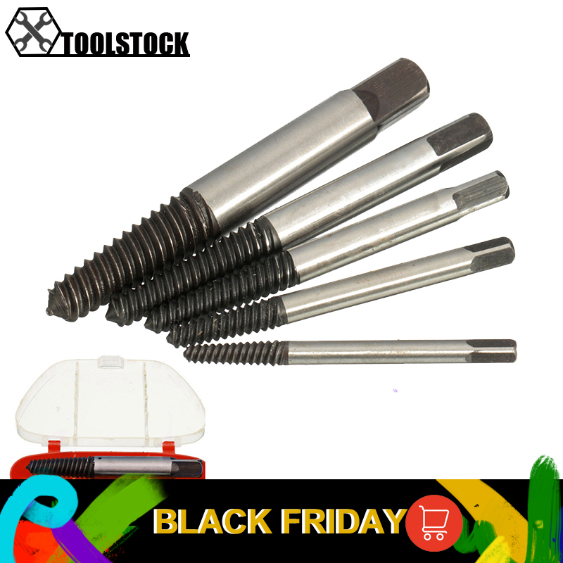 5pcs/lot Screw Extractor Screw Extractors Damaged Broken Screws Removal Tool  Drill Bits Used In Removing The Damaged Bolts