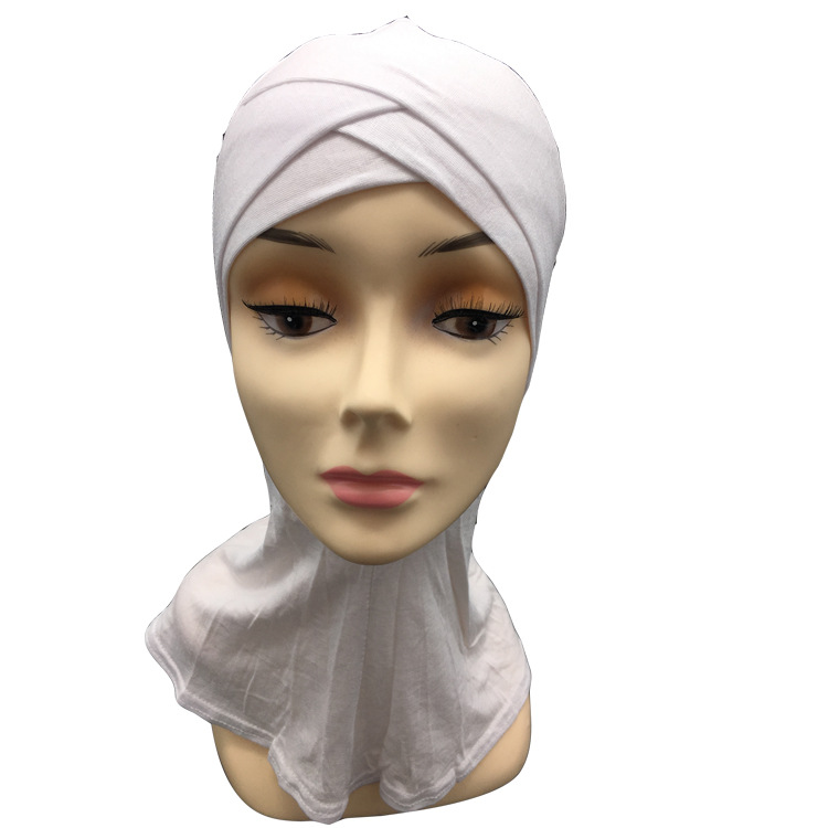 Image 5 - Retail two layers Double crossover muslim Cotton ninja underscarfIslamic Clothing