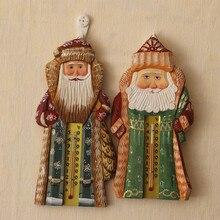 Украшение дома американский кантри украшения стены Рождественский подарок Санта Клаус ручной работы деревянный термометр
