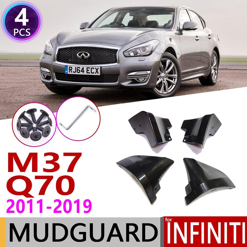 Car Mudflap For Infiniti M M25 M35h M37 M56 Q70 Q70L Y51 2011~2019 Fender Mud Guard Flap Splash Flaps Mudguards Accessories 2015