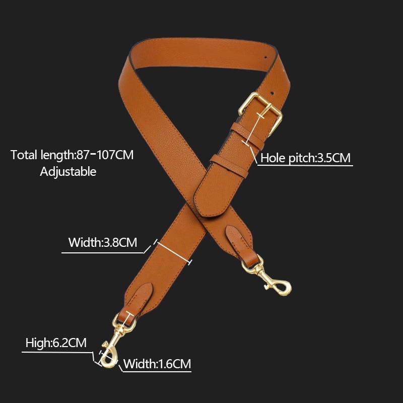 87-107cm Leather Shoulder Bag Straps Litchi Pattern Adjustable Bag Strap Replacement Crossbody Bag Strap Accessories