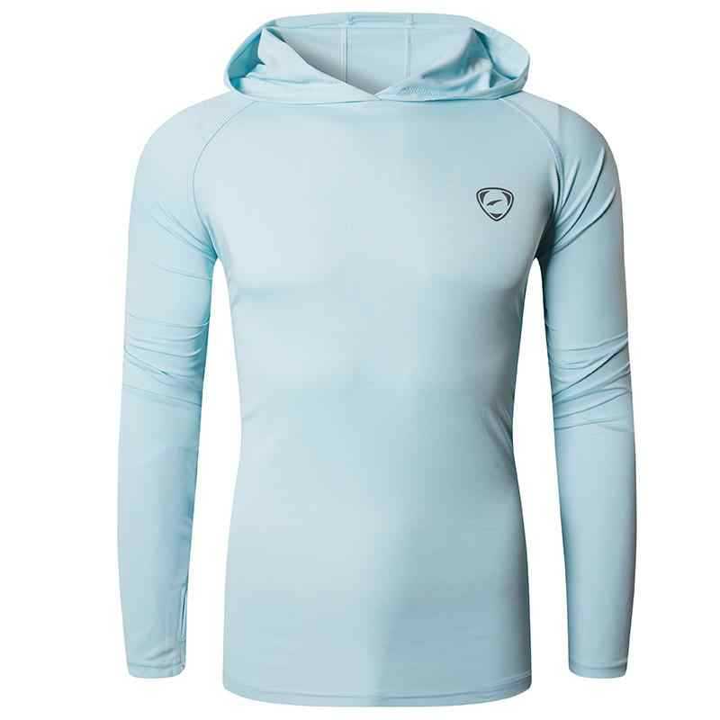 Jeansian Men's UPF 50 + UV 자외선 차단 야외 긴팔 티셔츠 티셔츠 티셔츠 비치 여름 LA271 LightGray