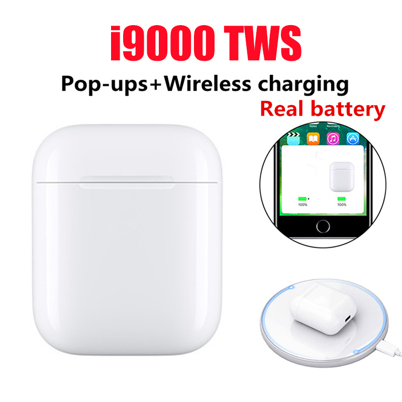 New i9000 <font><b>TWS</b></font> 2019 Pop up Wireless Bluetooth <font><b>5</b></font>.0 Earphone Headset Earbuds Charging Chip Bass PK i800 i2000 i500 i1000 i10000 <font><b>TWS</b></font> image