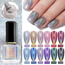7 мл от BORN PRETTY-Holographics лак для ногтей серебристый, Черный Фиолетовая для украшения ногтей Лаки, сделай сам, для лазерной гравировки для УФ гель...