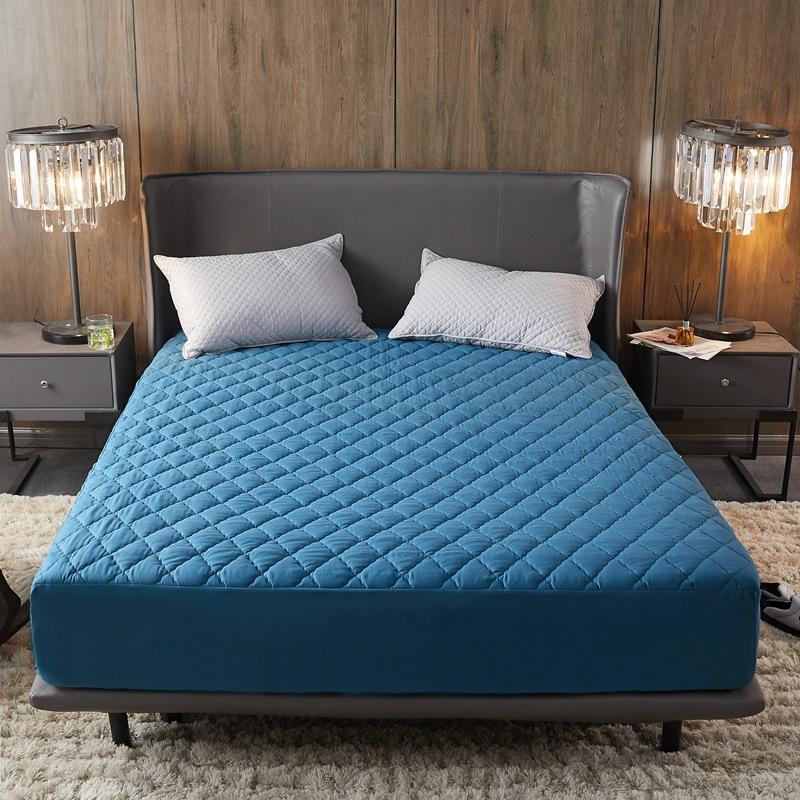 Waterproof Bed Cover Quilted Filling Mattress Protector Queen Size protege matelas Blue Color Mattress Covers150*200