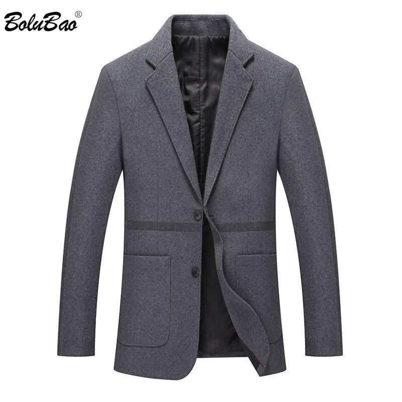 BOLUBAO Quality Brand Men Wool Blends Coats Autumn Winter New Male Business Style Coat Fashion Men's Slim Fit Wool Overcoat
