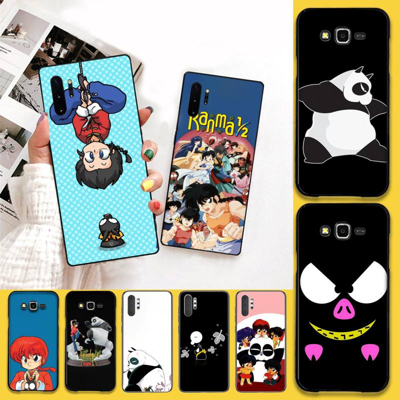 HPCHCJHM Ranma 1 2 Newly Arrived Black Cell Phone Case For Samsung Galaxy J7 J8 J6 Plus 2018 Prime Note 7 8 9 10 pro image
