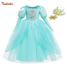 Halloween Cinderella Dress Costume Kids Jasmine Dresses For Girls Elsa Vestidos Children Rapunzel Aurora
