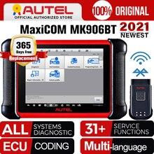 Autel MaxiCOM MK906BT skaner OBD2 zaawansowane narzędzie diagnostyczne skaner Bluetooth Automotivo ECU kodowanie PK MaxiSys MS906BT MS908