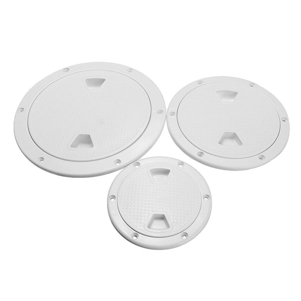 4/6/8 Inch Round Deck Cover Yacht Inspection Hole White Hatch Non-slip Hand Hole Cover Inspection Work Cover Hatch Boat Cover