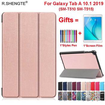 Case for Samsung Galaxy Tab A 10.1 2019 Model SM-T510 SM-T515 SM T510 T515 Cover Funda Slim Flip Stand Magnetic Table Case+Gifts case for samsung galaxy tab a 10 1 2019 sm t510 sm t515 wi fi lte flip tablet cover pu leather smart magnetic stand shell coque