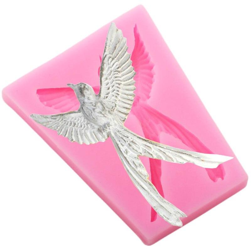 3D oiseaux tropicaux Silicone moules décoration de gâteaux Fondant gâteau décoration outils polymère argile bijoux moule bonbons chocolat moule