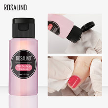 Rosalind 30ml gel polonês removedor mais limpo da arte do prego uv gel superfície limpador desengraxador do prego para vernis semi permanente uv remove(China)
