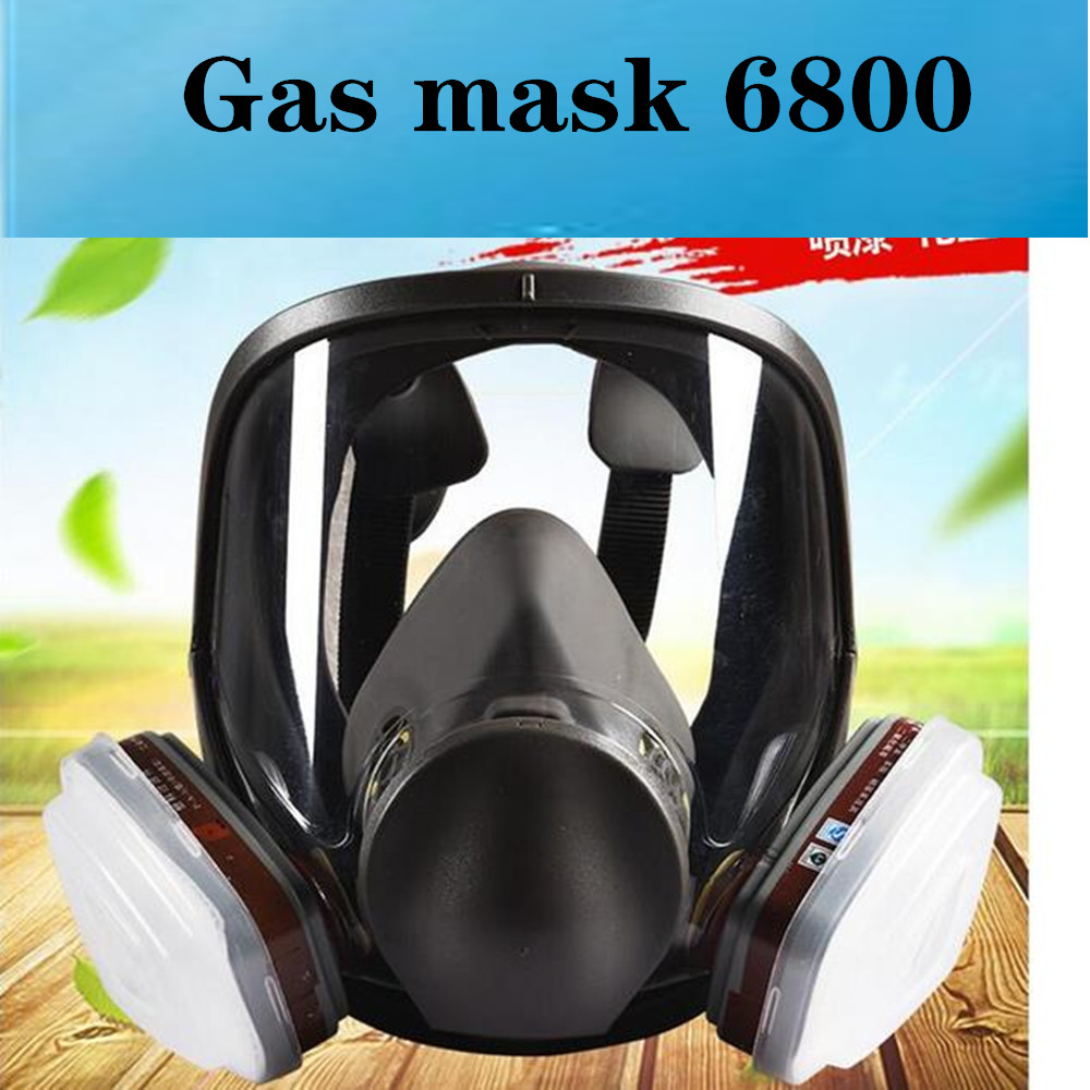 6800 Gas Mask 7 IN1 Suit Full Face Facepiece Respirator For Painting Spraying Chemical formaldehyde Mask Activated Carbon Gas|Party Masks| |  - title=