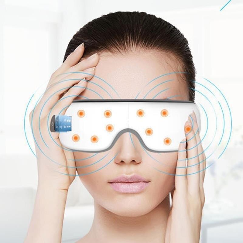 Inteligente bluetooth música olho massageador máscara pressão