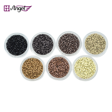 Wholesale 50000pcs 2.5mm Copper Nano micro rings/links RInglets,Pre Bonded Nano Tip Tipped nano/micro bead extensions tool