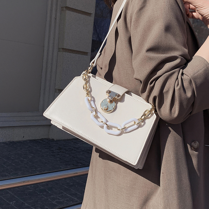 Original Design Fashion Elegant Square Bag Shoulder Bag & Trend Chain Underarm Bag Handbag Width 23cm Height 15m Thickness 11cm