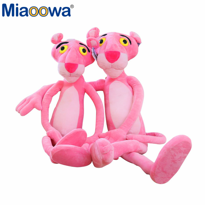 1pc 16x40CM Cute Soft Plush Nano Doll Toy Stuffed Animal Naughty Pink Panther Child Plaything Kids Naughty Plush Christmas Gift