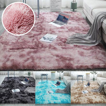 Bedroom Water Absorption Carpet Rugs For Living Room Bedroom Carpet Tie Dyeing Plush Soft Carpets Anti-slip Floor Mats