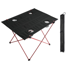 HooRu Picnic Camping Table Folding Beach Portable Fishing Tables Outdoor Backpacking Lightweight Roll-up Desk Garden Furniture