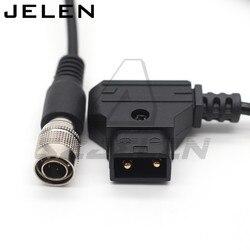 Dispositivos de som 688 633 zoom f8 cabo de alimentação dtap para hirose 4 pinos macho plug para zaxcom