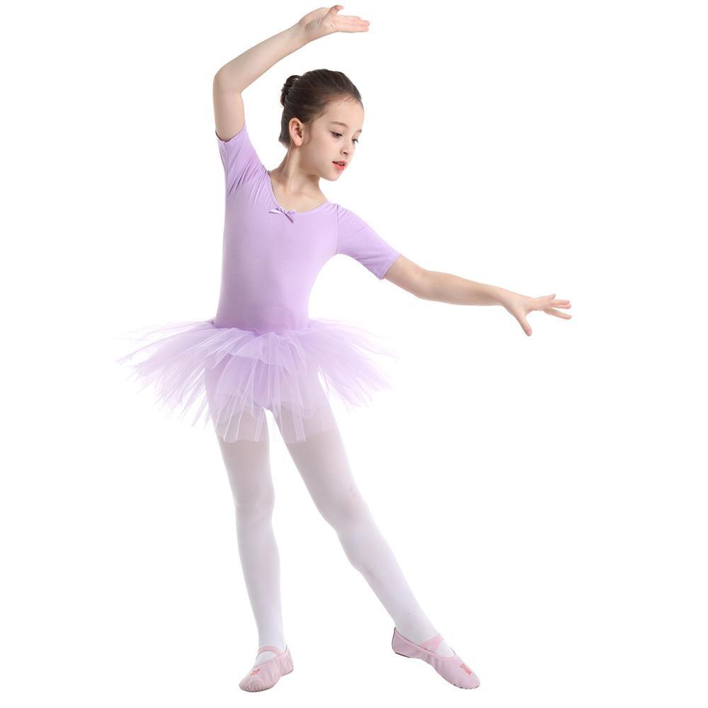 Girl Ballet Dance Dress Kid Gym Leotard Long Skirt Lyrical Praise Tutu Dancewear